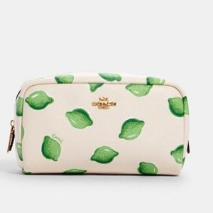 NWT-Coach Lime Print cosmetic care